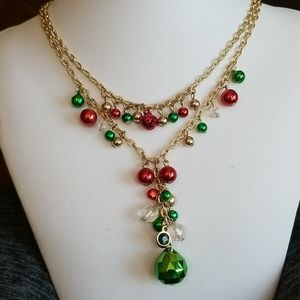 JINGLING BELLS 2strand Christmas necklace